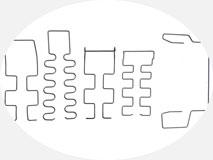 Проволокогиб с ЧПУ. Образцы гибки проволочных изделий на двухконсольных станках.
